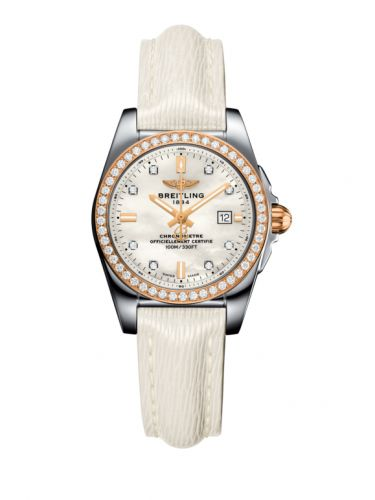 Breitling Galactic 29 Stainless Steel / Rose Gold / Diamond / Pearl Diamond / Calf (C7234853/A792/484X/A12BA.1)