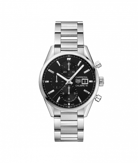 TAG Heuer Carrera Calibre 16 Automatic Black Dial Ladies CBK2110.BA0715