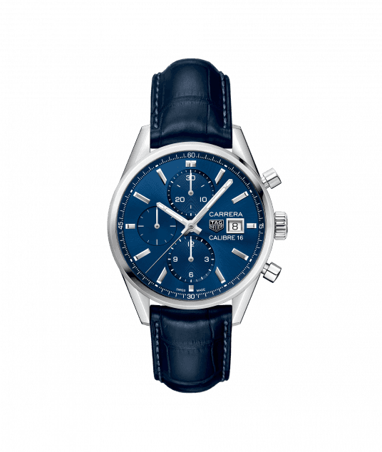 TAG Heuer Carrera Calibre 16 Chronograph Automatic Blue Dial Men's