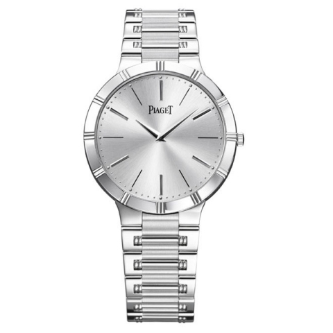 Piaget Dancer Silver Dial 18K White Gold Men's GOA31035