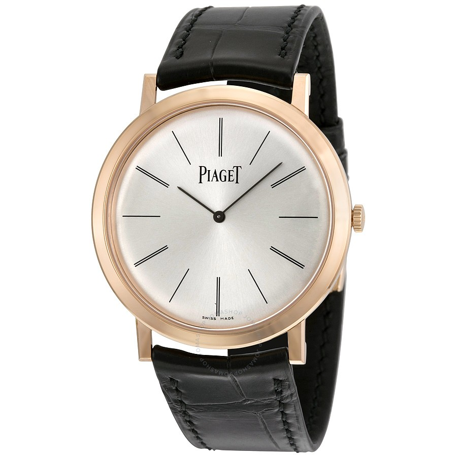 Piaget Altiplano Mechanical Silver Dial Leather Men's