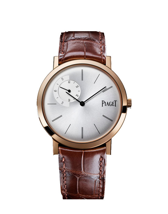 Piaget Altiplano Mechanical Silver Dial Brown Leather Men's
