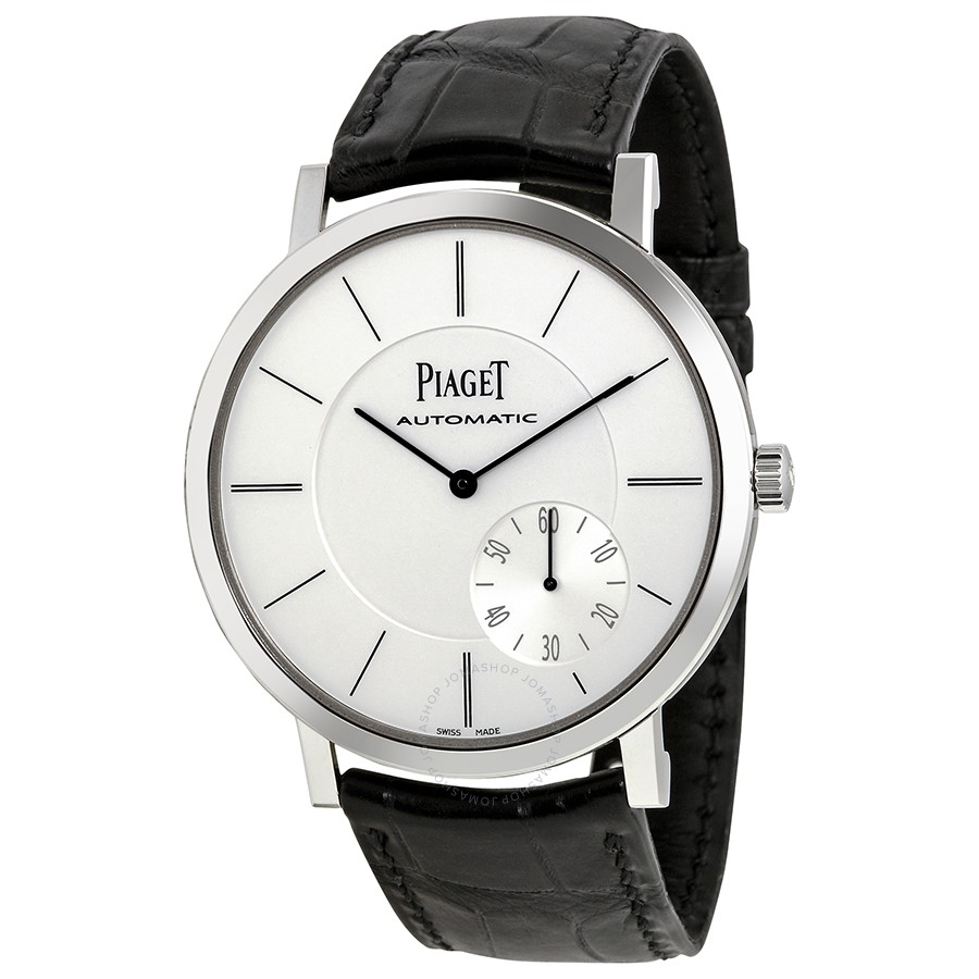 Piaget Altiplano Automatic Silver Dial Black Leather Men's