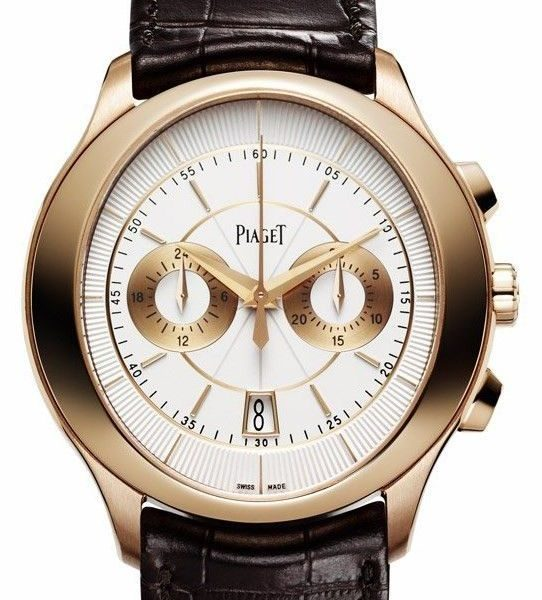 Piaget Gouverneur Automatic Silver Dial Brown Leather Men's