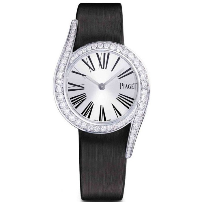 Piaget Limelight Gala Silver Dial Ladies Black Satin