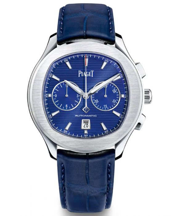 Piaget Polo S Chronograph Automatic Blue Dial Men's