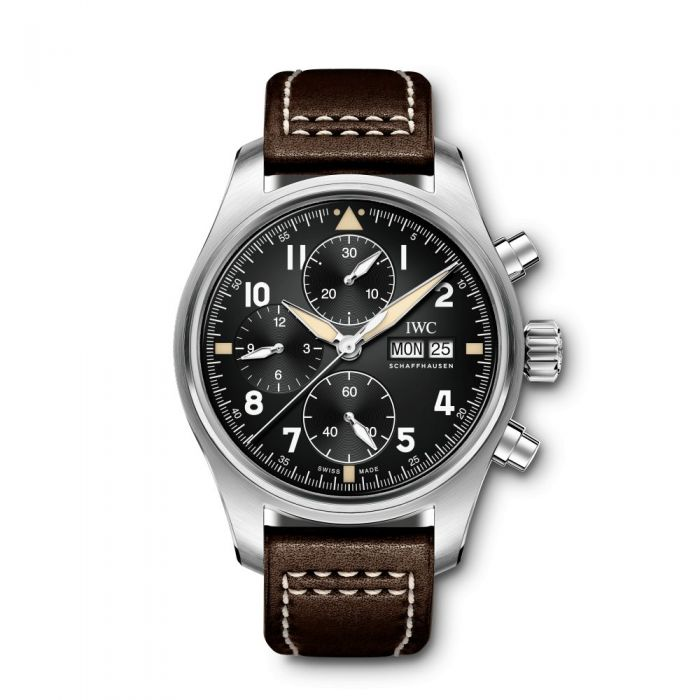 IWC Pilots Stainless Steel Black Automatic IW387903 Reproduction