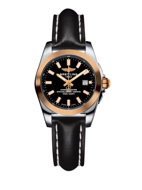 Breitling Galactic 29 Stainless Steel / Rose Gold / Trophy Black / Calf (C7234812/BF32/477X/A12BA.1)