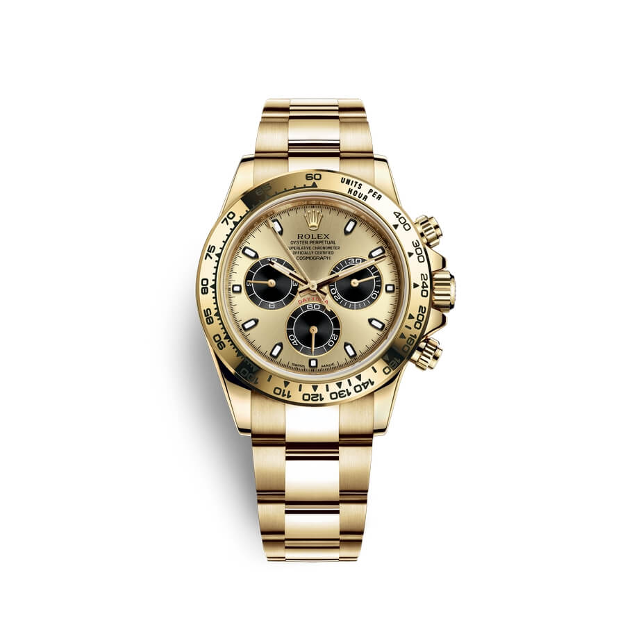 Rolex Cosmograph Daytona 18 ct yellow gold M116508-0014 Champagne-colour and black Dial