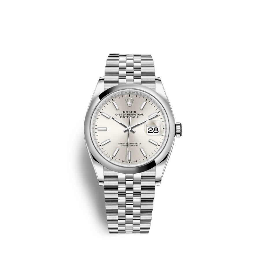 Rolex Datejust 36 Oystersteel M126200-0001 Silver Dial