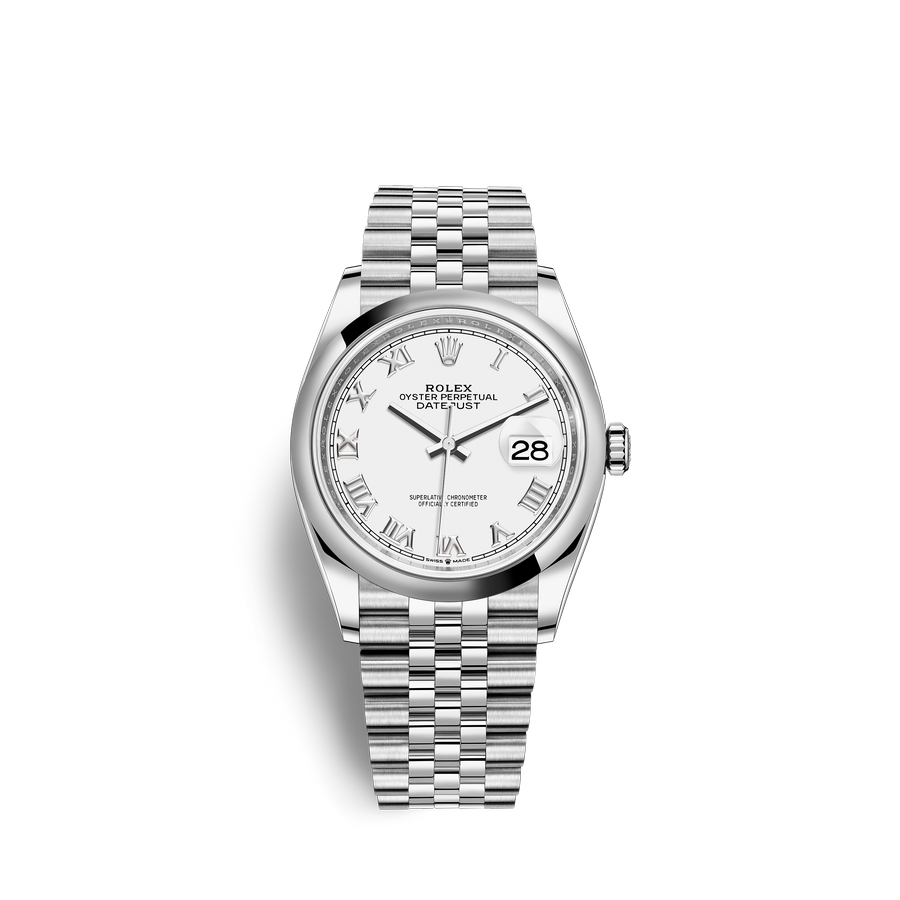 Rolex Datejust 36 Oystersteel M126200-0007 White Dial