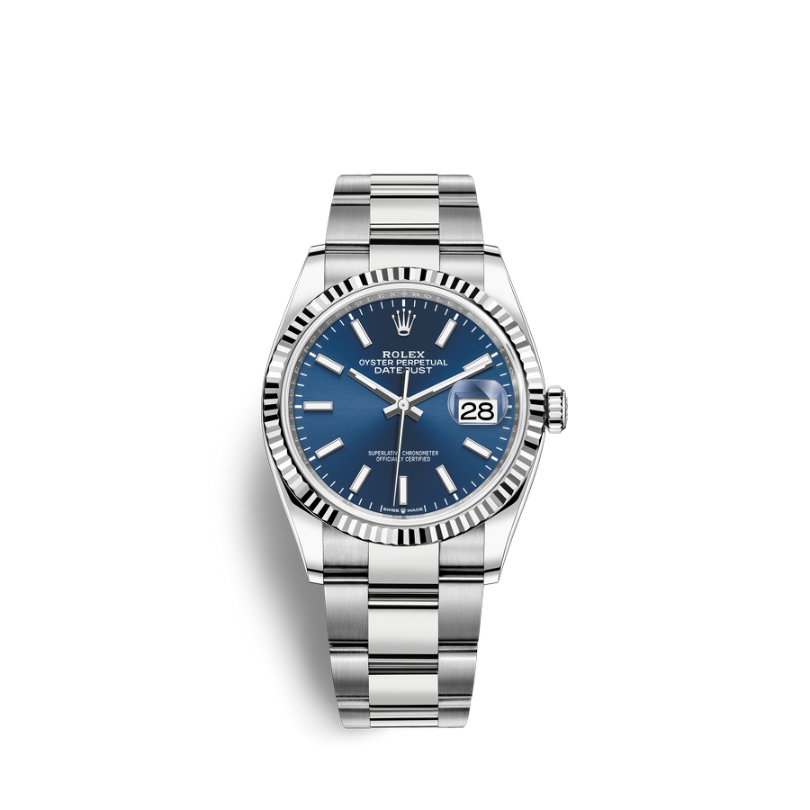 Rolex Datejust 36 Oystersteel 18 ct white gold M126234-0018 Blue Dial