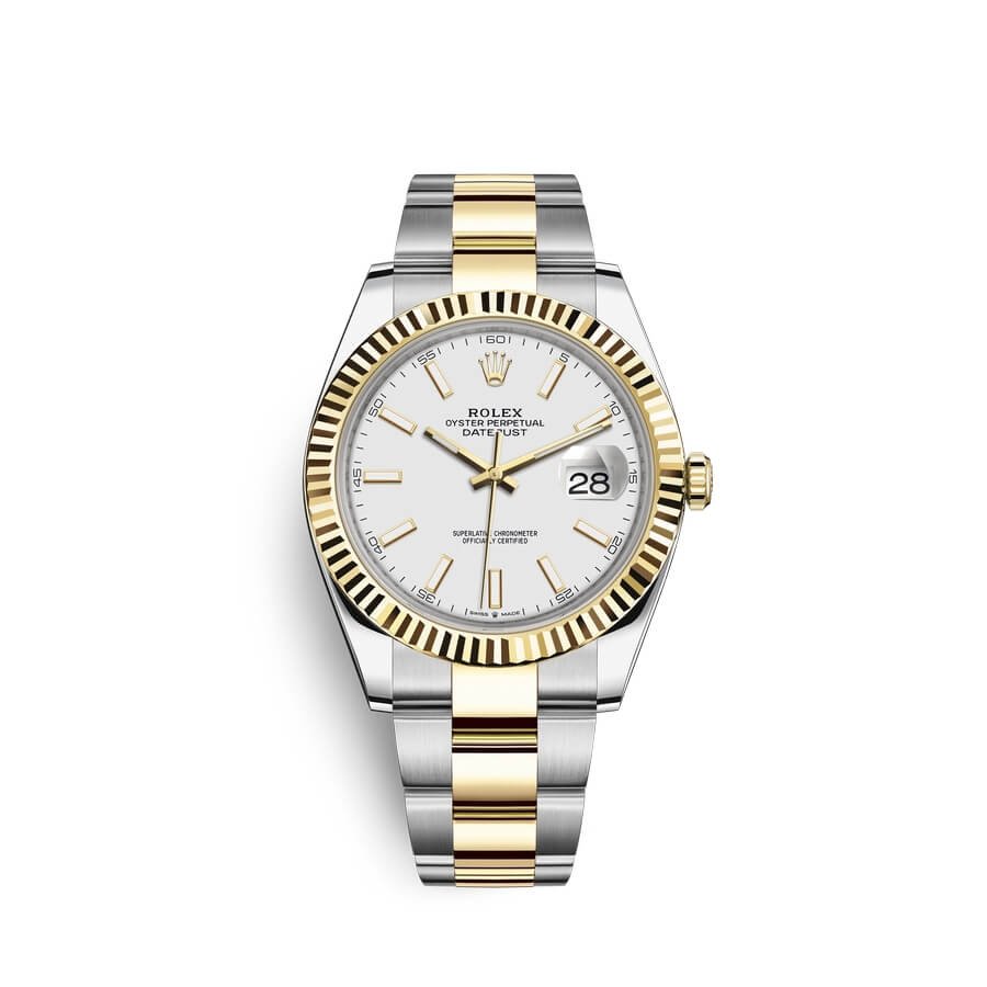 Rolex Datejust 41 Oystersteel 18 ct yellow gold M126333-0015 White Dial
