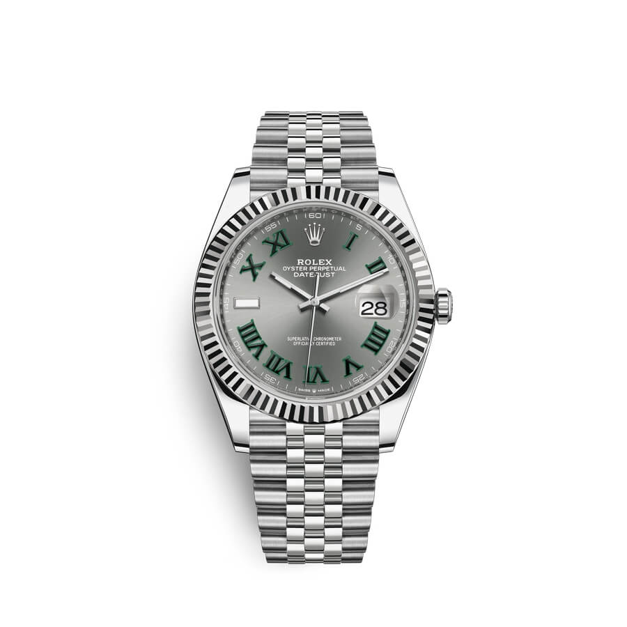 Rolex Datejust 41 Oystersteel 18 ct white gold M126334-0022 Slate Dial