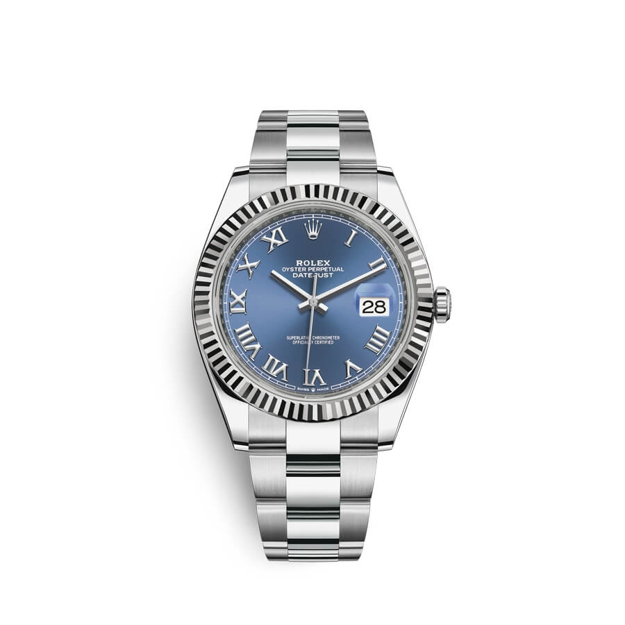 Rolex Datejust 41 Oystersteel 18 ct white gold M126334-0025 Blue Dial