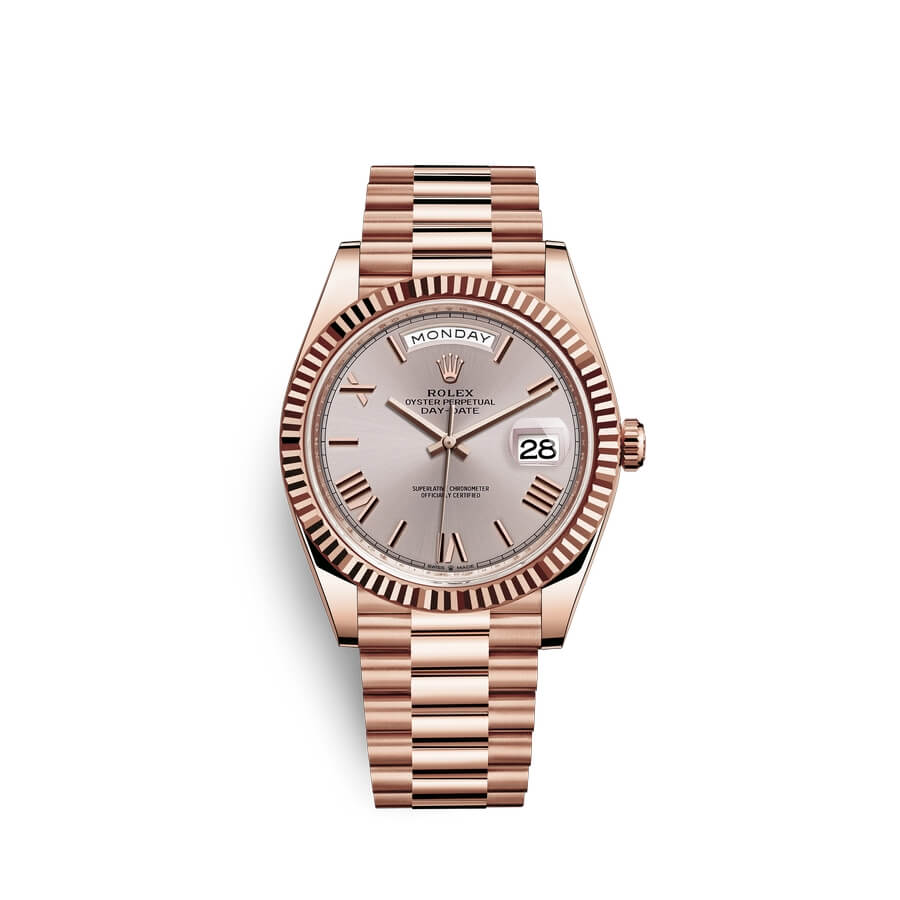 Rolex Day-Date 40 18 ct Everose gold M228235-0001 Sundust Dial