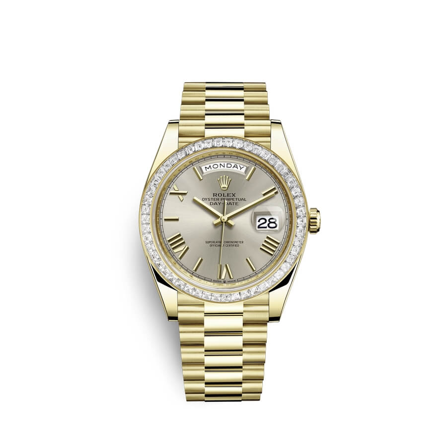 Rolex Day-Date 40 18 ct yellow gold M228398TBR-0006 Silver Dial