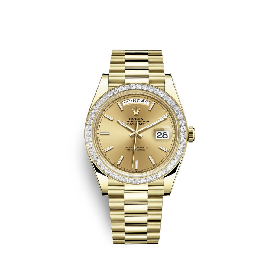Rolex Day-Date 40 18 ct yellow gold M228398TBR-0007 Champagne-colour Dial