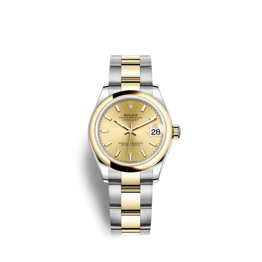 Rolex Datejust 31 Oystersteel 18 ct yellow gold M278243-0013 Champagne-colour Dial