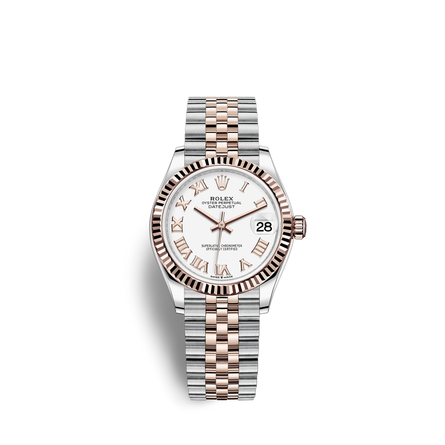 Rolex Datejust 31 Oystersteel 18 ct Everose gold M278271-0002 White Dial