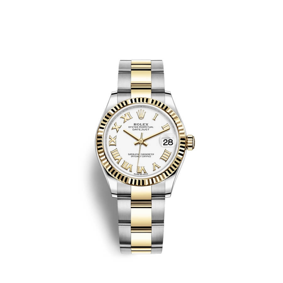 Rolex Datejust 31 Oystersteel 18 ct yellow gold M278273-0001 White Dial