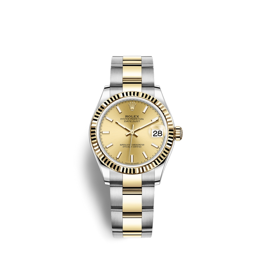 Rolex Datejust 31 Oystersteel 18 ct yellow gold M278273-0013 Champagne-colour Dial