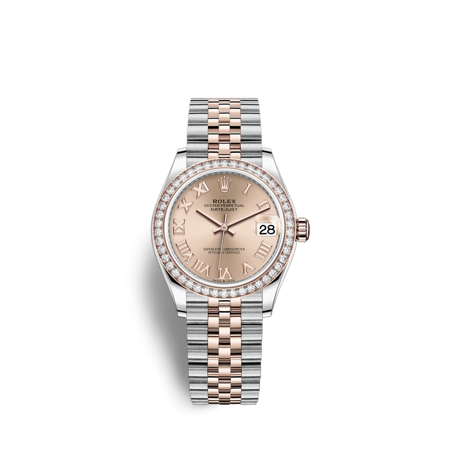 Rolex Datejust 31 Oystersteel 18 ct Everose gold M278381RBR-0002 Ros?? colour Dial