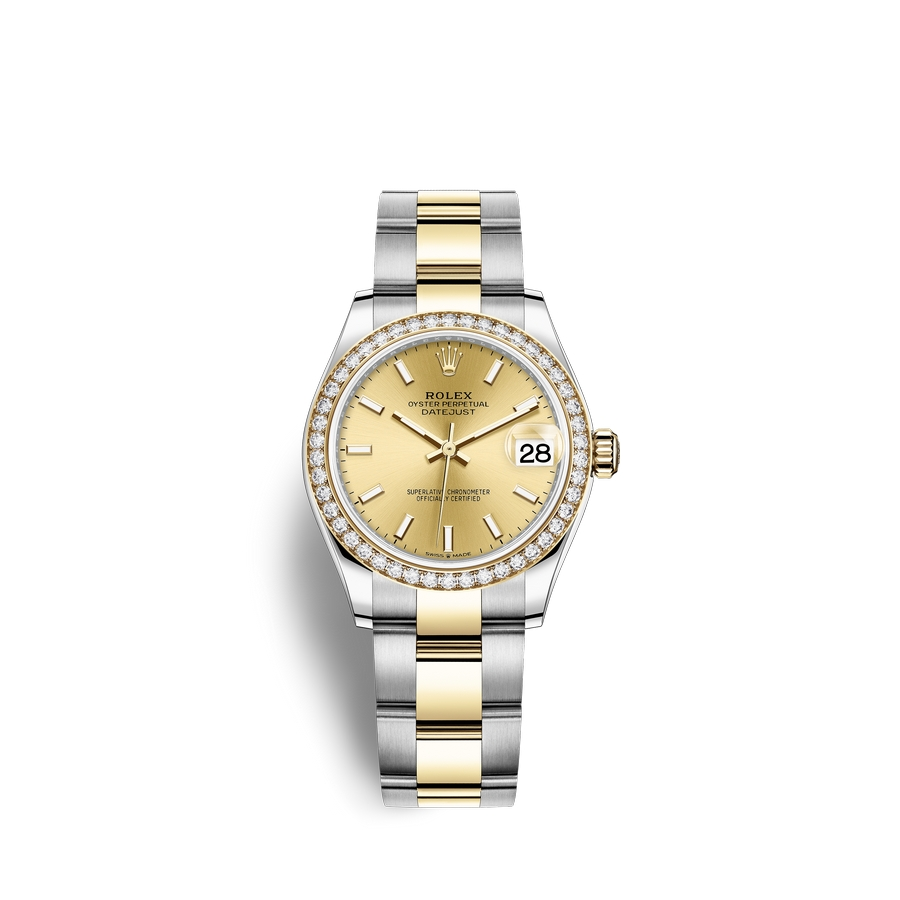 Rolex Datejust 31 Oystersteel 18 ct yellow gold M278383RBR-0013 Champagne-colour Dial