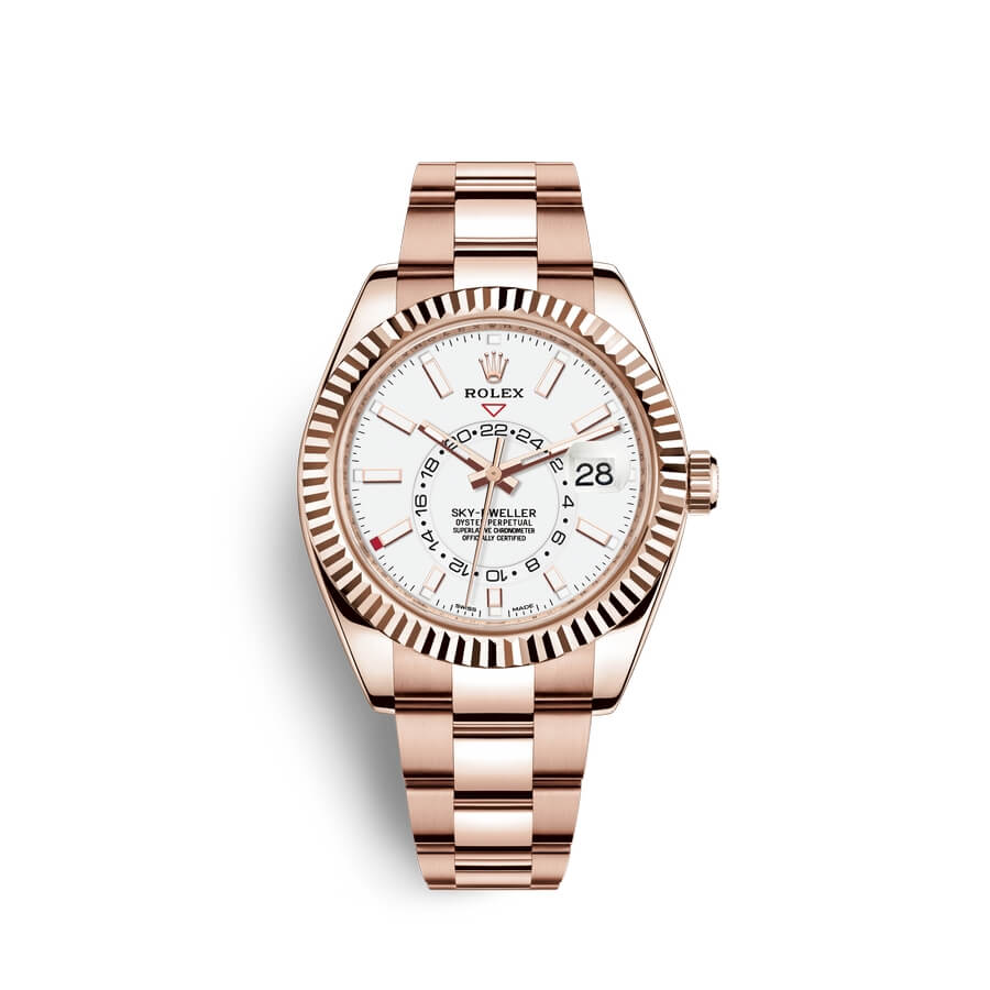Rolex Sky-Dweller 18 ct Everose gold M326935-0005 White Dial