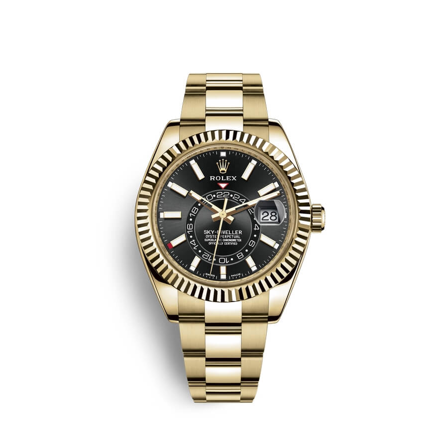 Rolex Sky-Dweller 18 ct yellow gold M326938-0004 Black Dial