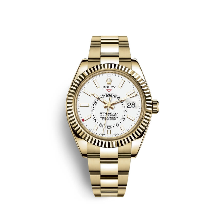 Rolex Sky-Dweller 18 ct yellow gold M326938-0005 White Dial