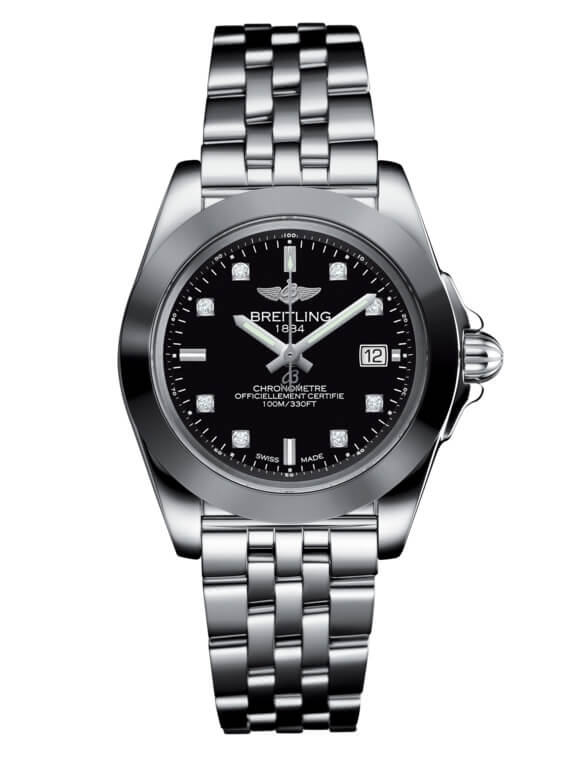 Breitling Galactic 32 Sleek Edition Stainless Steel / Trophy Black Diamond / Bracelet (W7133012.BF63.792A)