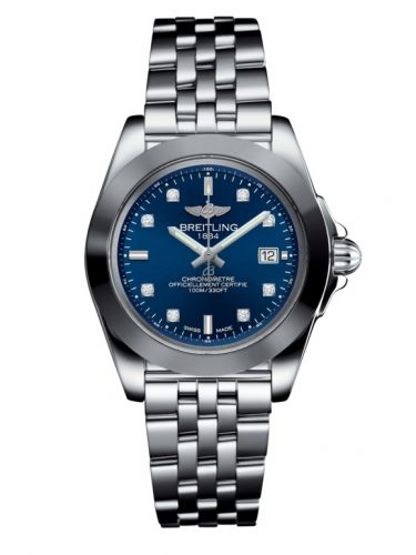 Breitling Galactic 32 Sleek Edition Blue Diamond Dial Stainless Steel Women's W7133012/C966-792A