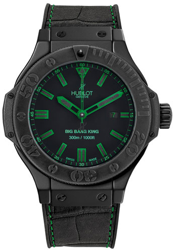Hublot Big Bang King All Black Green 48mm Mens Watch 322.CI.1190