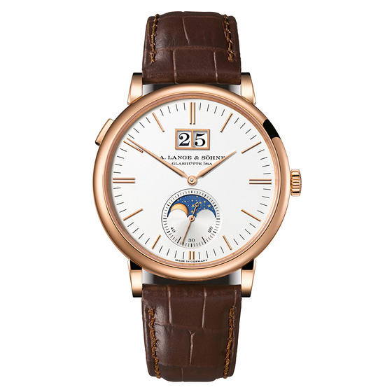 A. Lange & Sohne Saxonia Moon Phase 40mm Mens Watch 384.032 Replica