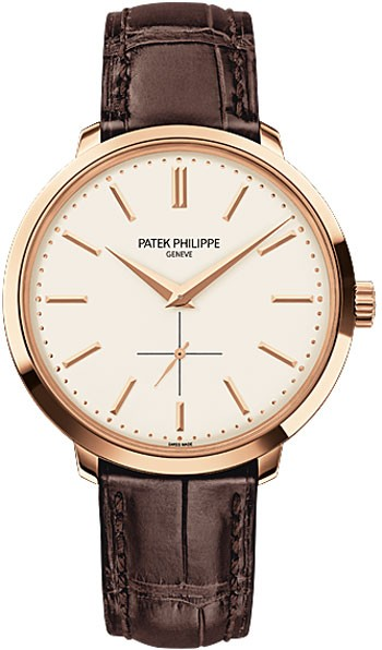 Patek Philippe Calatrava Silver Dial 18k Rose Gold Men's Watch 5