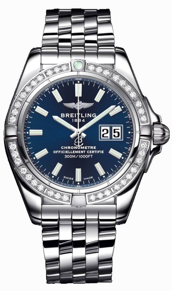 Breitling Galactic 41 A49350LA/C929/366A Stainless Steel Watch