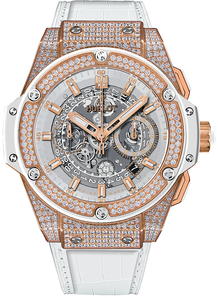 701.OE.0128.GR.1704 Hublot King Power Unico King Gold White Pavé
