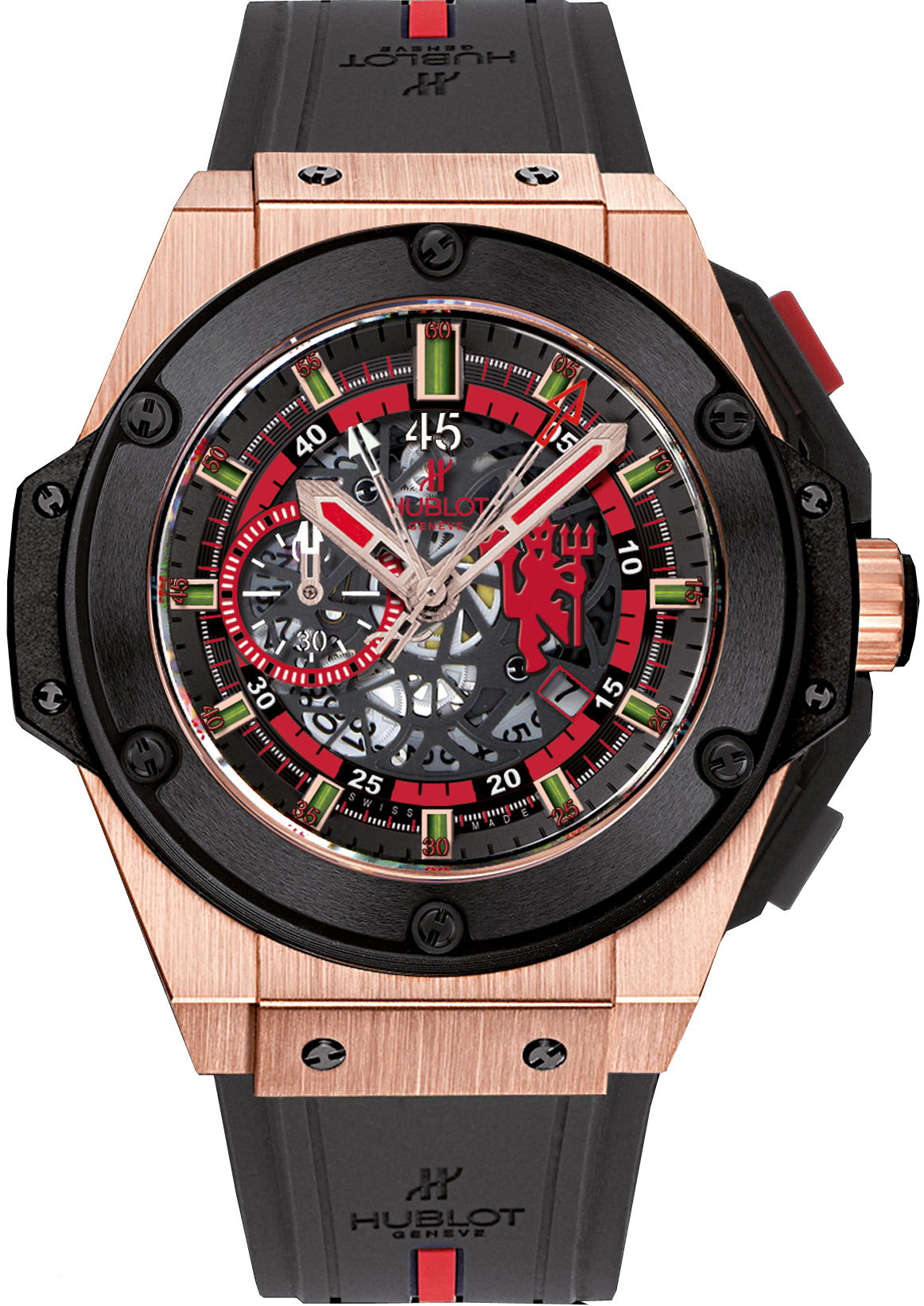 Hublot King Power Red Devil Manchester United Rose Gold