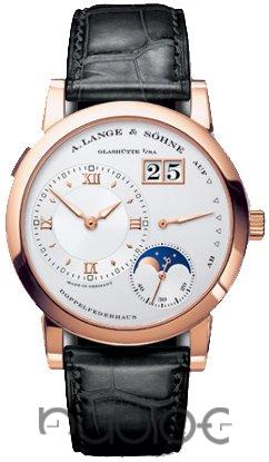 A Lange & Sohne Lange 1 Rose Gold Mechanical Replica Watch 109.032