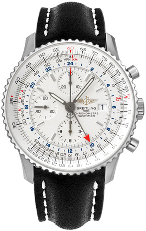 Breitling Navitimer World Mens Watch Stainless Steel A2432212/G5