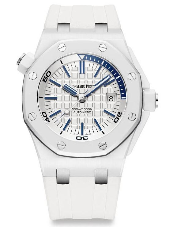 AP Royal Oak Offshore Diver Piguet White Ceramic 15707CB.OO.A010