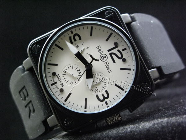 BELL ROSS CHRONOGRAPH BR01-94_AUTO_WHITE DIAL BLACK MARKERS_PVD
