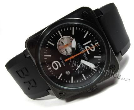 BELL ROSS BR01-94 TWIN TIME SWISS CASING PVD STOPWATCHES RUBBER