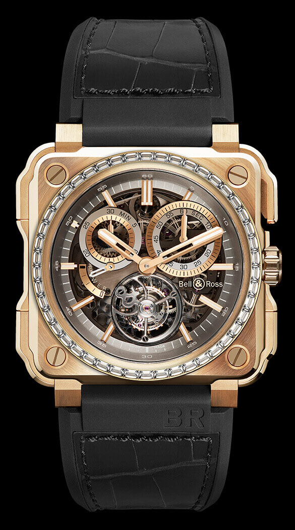 Bell & Ross BR-X1 TOURBILLON ROSE GOLD DIAMONDS