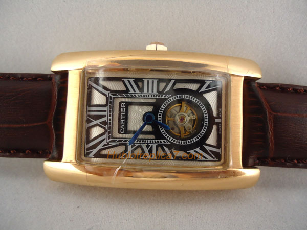 Cartier Tank American 18kt Rose Gold Ladies W2607456
