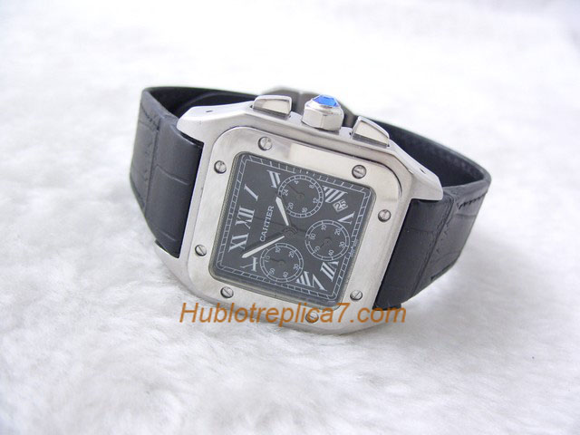 Cartier Santos 100 XL Steel Chronograph Mens W20090X8