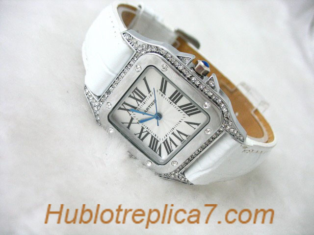 Cartier Tank Francaise 18kt White Gold Diamond Ladies WE10