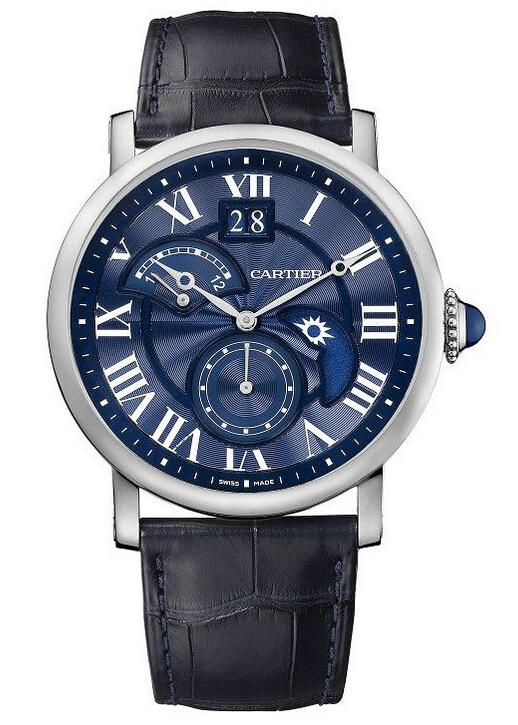 Cartier Rotonde de Cartier Second Time Zone Day/Night Blue Heave