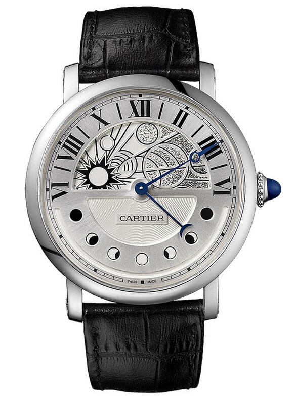 Cartier Rotonde de Cartier Day and Night Replica Watches On Sale